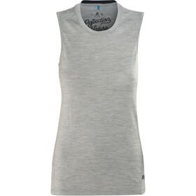 Odlo Natural 100% Merino Warm Koszulka bez rękawów Kobiety, grey melange-black